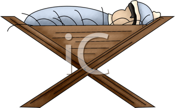 Royalty Free Clipart Image of the Baby Jesus in the Manger