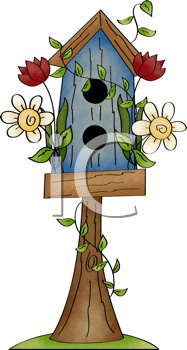 Royalty Free Clipart Image of a Birdhouse