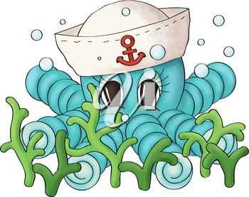 Royalty Free Clipart Image of an Octopus