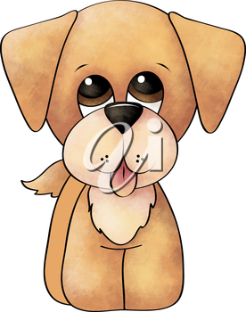 Royalty Free Clipart Image of a Golden Retriever