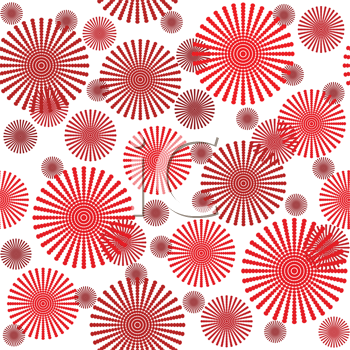 Abstract pattern with stylized flowers