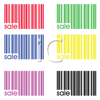 Collection of colored bar codes