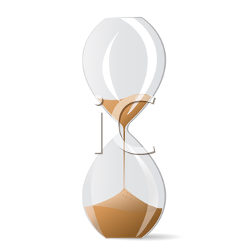 Royalty Free Clipart Image of an Hourglass