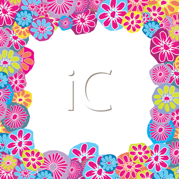 Cute floral frame for children