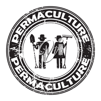 PERMACULTURE rubber stamp