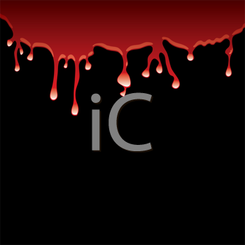 Royalty Free Clipart Image of Dripping Red on Black