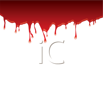 Royalty Free Clipart Image of  Dripping Red on White