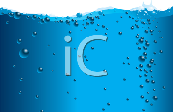 Royalty Free Clipart Image of a Cross Section of Water Background