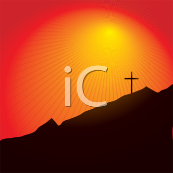 Royalty Free Clipart Image of an Easter Cross
