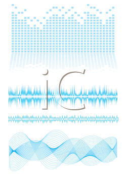 Royalty Free Clipart Image of a Wave Elements