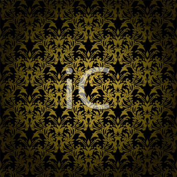 Royalty Free Clipart Image of a Gold and Black Background