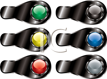 Royalty Free Clipart Image of a Set of Tabs