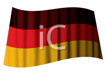 Royalty Free Clipart Image of a Rippling German Flag