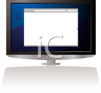 Royalty Free Clipart Image of a Computer Screen