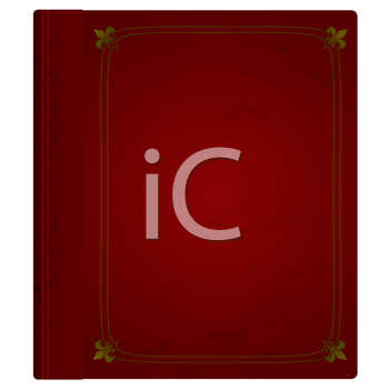 Royalty Free Clipart Image of a Maroon Hardcover