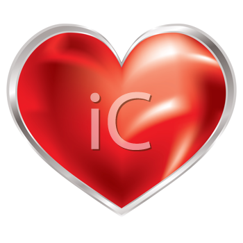 Royalty Free Clipart Image of a Love Heart