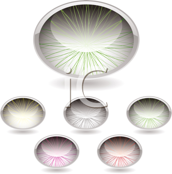 Royalty Free Clipart Image of Ovals With Lines