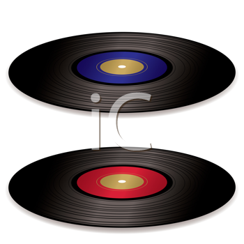 Royalty Free Clipart Image of Records
