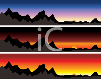 Royalty Free Clipart Image of Mountain Ranges