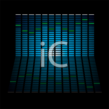 Royalty Free Clipart Image of a Musical Graph