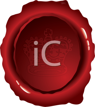 Royalty Free Clipart Image of a Wax Seal