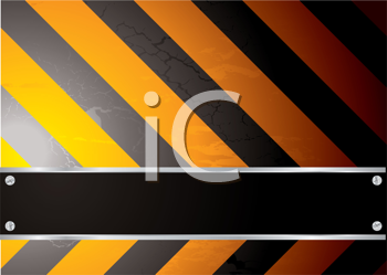 Royalty Free Clipart Image of a Striped Sign