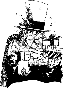 Royalty Free Clipart Image of Scrooge