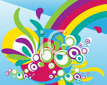 Royalty Free Clipart Image of an Abstract Colourful Background