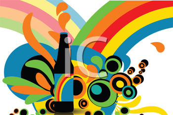 Royalty Free Clipart Image of an Abstract Bottle