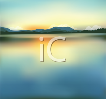 Royalty Free Clipart Image of a Nature Landscape