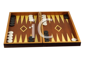 Royalty Free Photo of a Backgammon Game