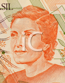 Royalty Free Photo of Cecilia Meireles on 100 Cruzerios 1989 Banknote from Brazil. Poet, journalist and teacher.
