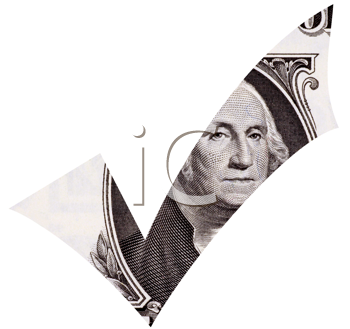Royalty Free Photo of a Dollar Tick Showing George Washington