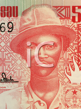 Royalty Free Photo of Pansau Na Isna on 50 Pesos 1990 banknote from Guinea Bissau.