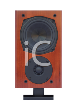 Royalty Free Photo of a Wooden Speaker