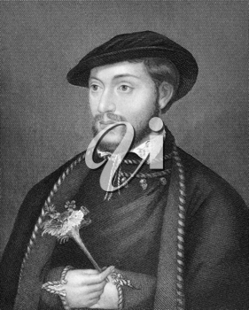 John Dudley, 1st Duke of Northumberland (1504-1553) on engraving from 1838. English general, admiral and politician. Engraved by H.T.Ryall after a painting by Holbein and published by J.Tallis & Co.