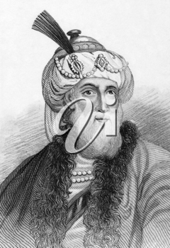 Titus Flavius Josephus (37-100) on engraving from 1800s. Romano-Jewish historian and hagiographer of priestly and royal ancestry. Published in London by L.Tallis.