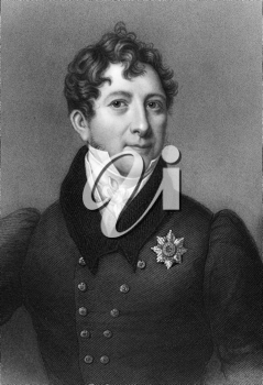 William O'Brien, 2nd Marquess of Thomond (1765-1846) on engraving from 1837. Irish peer. Engraved by S.Freeman after a painting by Titani and published by G.Virtue.