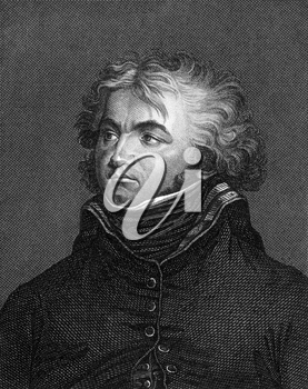 Jean Baptiste Kleber (1753-1800) on engraving from 1859. French general during the French Revolutionary Wars. Engraved by unknown artist and published in Meyers Konversations-Lexikon, Germany,1859.