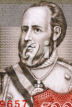 Jose Ballivian (1805-1852) on 5000 Pesos Bolivianos 1984 Banknote from Bolivia. Bolivian general during the Peruvian-Bolivian War and the 11th president of Bolivia during 1841-1847.