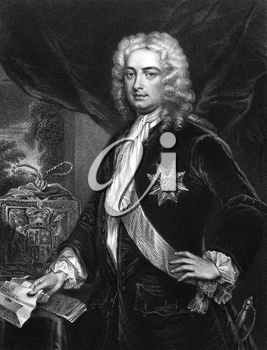 Robert Walpole, 1st Earl of Orford (1676-1745) on engraving from 1830. British statesman and first Prime Minister of Great Britain. Engraved by H.Robinson and published in ''Portraits of Illustrious P
