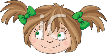 Royalty Free Clipart Image of a Little Girl