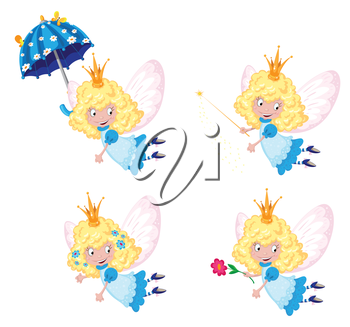 illustration of a fairy funny set