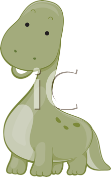 Royalty Free Clipart Image of a Brontosaurus