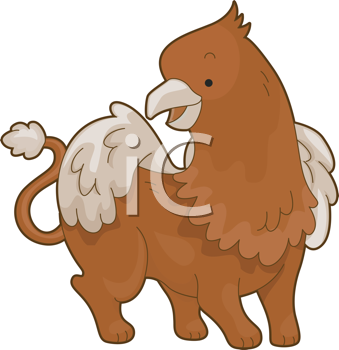 Royalty Free Clipart Image of a Griffin