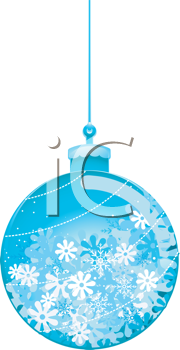 Royalty Free Clipart Image of a Christmas Tree Ornament