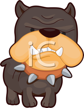 Royalty Free Clipart Image of an Angry Dog