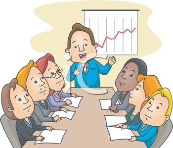Royalty Free Clipart Image of a Business Meeting