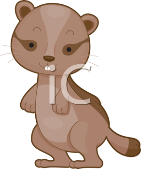 Royalty Free Clipart Image of a Chipmunk