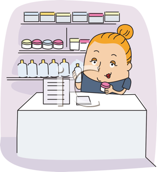 Royalty Free Clipart Image of an Aesthetician